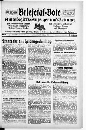 Briesetal-Bote vom 21.02.1937