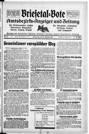 Briesetal-Bote vom 25.02.1937
