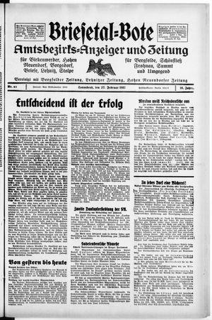 Briesetal-Bote vom 27.02.1937