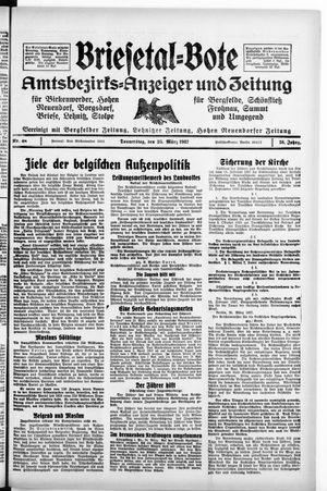 Briesetal-Bote vom 25.03.1937