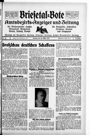 Briesetal-Bote vom 26.03.1937