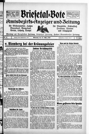Briesetal-Bote vom 31.03.1937