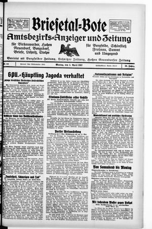 Briesetal-Bote vom 05.04.1937