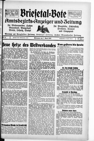 Briesetal-Bote vom 07.04.1937
