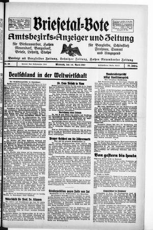 Briesetal-Bote vom 14.04.1937