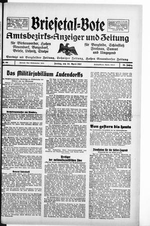 Briesetal-Bote vom 16.04.1937