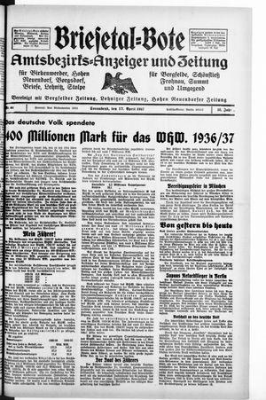 Briesetal-Bote vom 17.04.1937