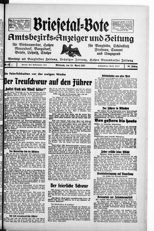 Briesetal-Bote vom 21.04.1937