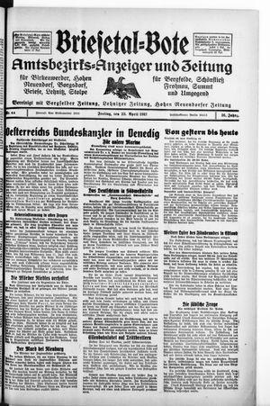 Briesetal-Bote vom 23.04.1937