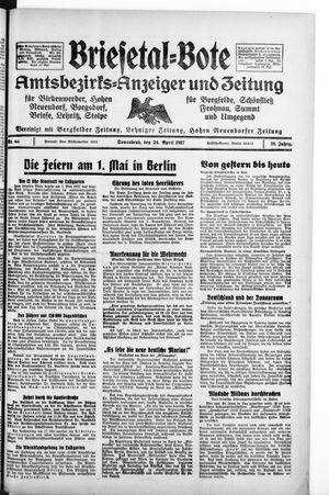 Briesetal-Bote vom 24.04.1937