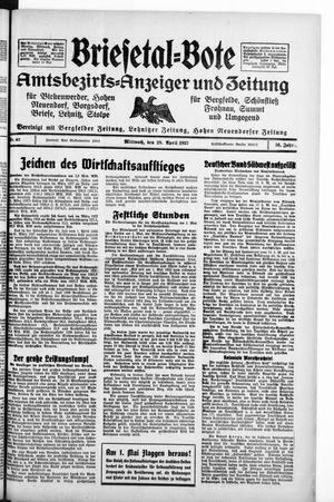 Briesetal-Bote vom 28.04.1937