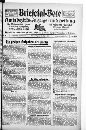 Briesetal-Bote vom 29.04.1937