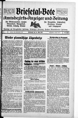 Briesetal-Bote on May 12, 1937