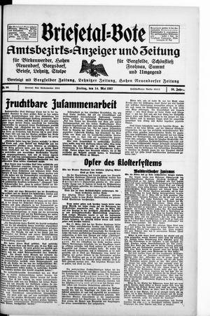 Briesetal-Bote on May 14, 1937