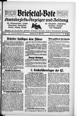 Briesetal-Bote vom 21.05.1937