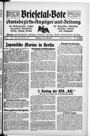 Briesetal-Bote vom 26.05.1937