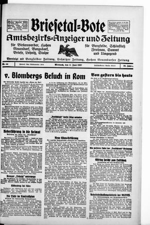 Briesetal-Bote vom 02.06.1937
