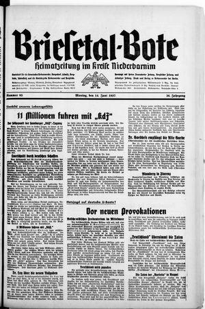 Briesetal-Bote on Jun 14, 1937