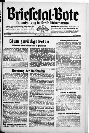 Briesetal-Bote on Jun 21, 1937