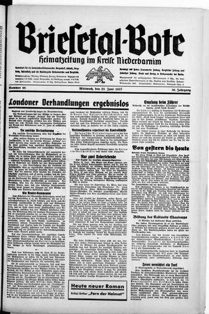 Briesetal-Bote vom 23.06.1937