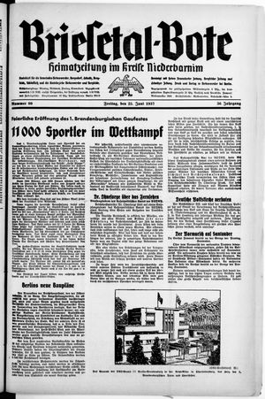 Briesetal-Bote vom 25.06.1937