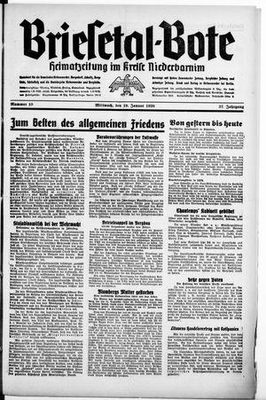 Briesetal-Bote vom 19.01.1938