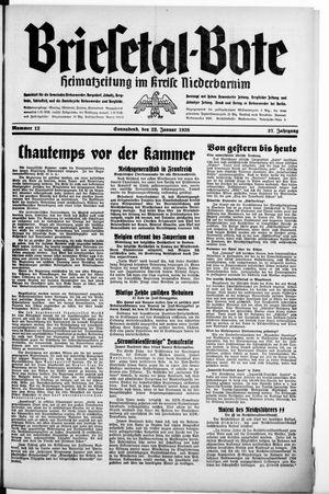 Briesetal-Bote vom 22.01.1938