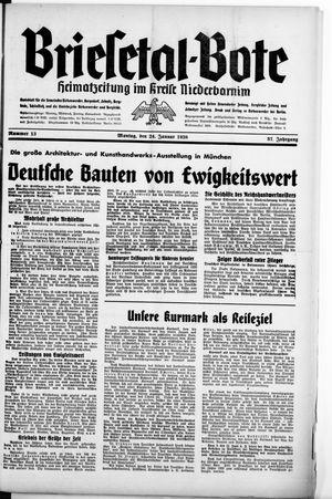 Briesetal-Bote vom 24.01.1938