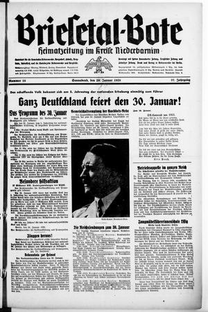 Briesetal-Bote vom 29.01.1938