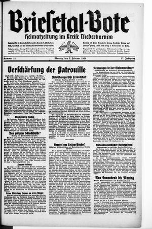 Briesetal-Bote vom 07.02.1938
