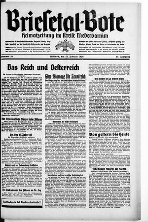 Briesetal-Bote vom 16.02.1938