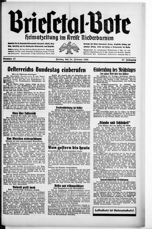 Briesetal-Bote vom 18.02.1938