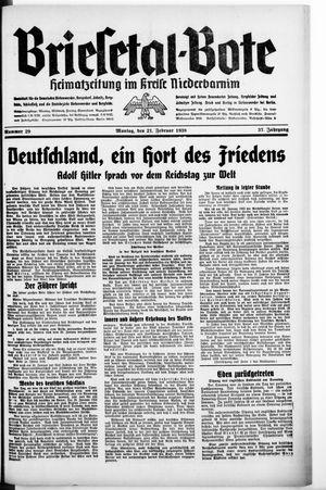 Briesetal-Bote on Feb 21, 1938