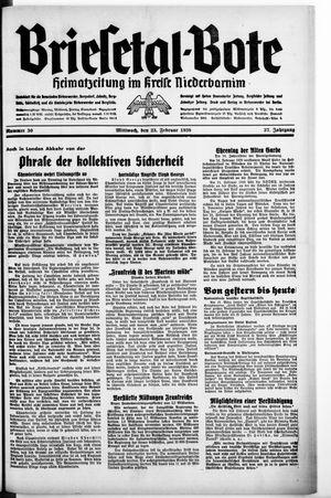Briesetal-Bote vom 23.02.1938