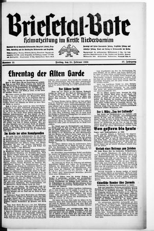 Briesetal-Bote vom 25.02.1938