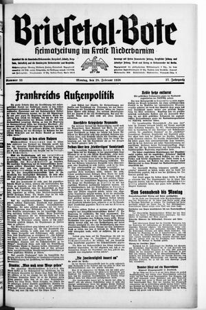 Briesetal-Bote vom 28.02.1938