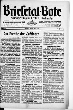 Briesetal-Bote vom 02.03.1938