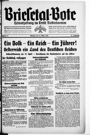 Briesetal-Bote vom 14.03.1938