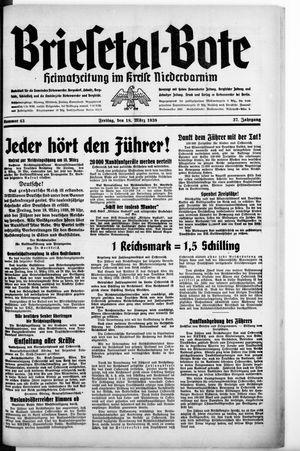 Briesetal-Bote vom 18.03.1938