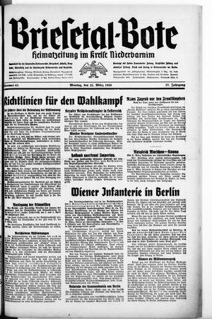 Briesetal-Bote vom 21.03.1938