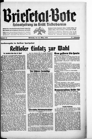 Briesetal-Bote on Mar 23, 1938