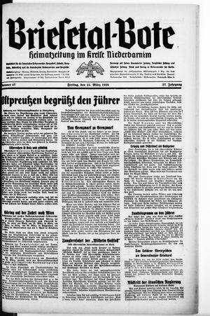 Briesetal-Bote vom 25.03.1938