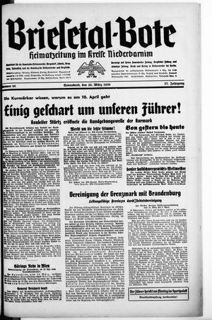 Briesetal-Bote vom 26.03.1938