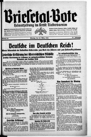 Briesetal-Bote vom 28.03.1938
