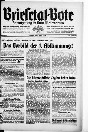 Briesetal-Bote vom 01.04.1938