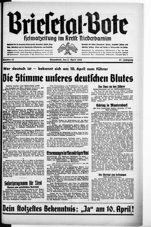 Briesetal-Bote on Apr 2, 1938