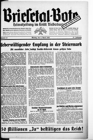 Briesetal-Bote vom 04.04.1938