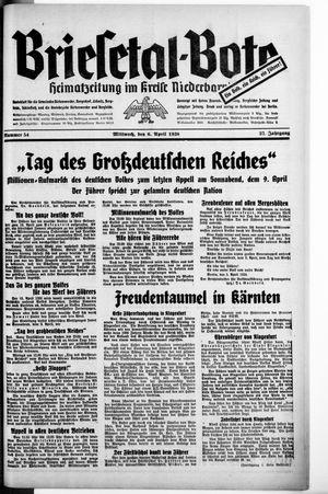 Briesetal-Bote vom 06.04.1938