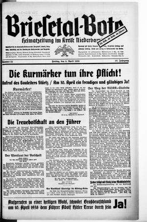 Briesetal-Bote vom 08.04.1938