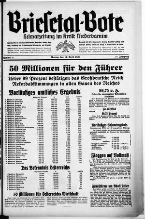 Briesetal-Bote vom 11.04.1938